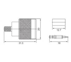 Разъём N-111F (N-male, обжимной, на кабель RG-58) фото 5
