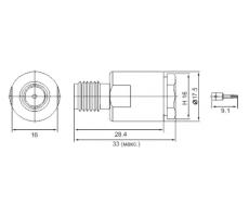 Разъём S-212/5D (SMA-female, прижимной, на кабель 5D) фото 2