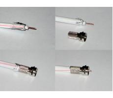 Разъём F-113/75 (F-male, резьбовой, на кабель SAT-703) фото 2