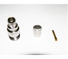 Разъём N-211/5D (N-female, обжимной, на кабель 5D) фото 7