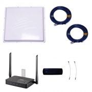 Комплект 4G Дача-Максимум (Роутер WiFi, модем, кабель, антенна 4G 2х20 дБ)