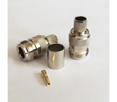 Разъём N-211/5D (N-female, обжимной, на кабель 5D) фото 2