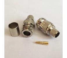 Разъём N-211/5D (N-female, обжимной, на кабель 5D) фото 5