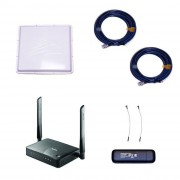 Комплект 3G/4G Дача-Максимум 2x2 (Роутер WiFi, модем, кабель 2х5м, антенна 3G/4G 2x17 дБ)