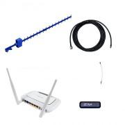 Комплект 4G Дача-Эконом (Роутер WiFi, модем, кабель 5м, антенна 4G 17 дБ)