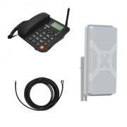 Стационарный сотовый телефон Termit FixPhone v2 с панельной антенной Nitsa-6