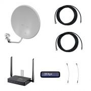 Комплект 3G/4G-интернета на дачу Про 2x2 (Роутер WiFi, модем, кабель 2х5м, антенна 3G/4G 2x24 дБ)