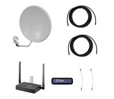Комплект 3G/4G Дача-Про 2x2 (Роутер WiFi, модем, кабель 2х5м, антенна 3G/4G 2x24 дБ) фото 1