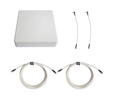 Антенна 3G/4G KAA15-1700/2700 (Панельная, 2 x 12-15 дБ, кабель 2х3м., пигтейлы 2хСRC9) фото 1