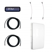 Модем 3G/4G Huawei E3372 с внешней антенной 3G/4G MIMO 2 х 15 дБ и ВЧ-кабелем 5 м