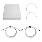 Антенна 3G/4G KAA15-1700/2700 (Панельная, 2 x 12-15 дБ, кабель 2х3м., пигтейлы 2хTS9)