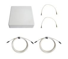 Антенна 3G/4G KAA15-1700/2700 (Панельная, 2 x 12-15 дБ, кабель 2х3м., пигтейлы 2хTS9) фото 1