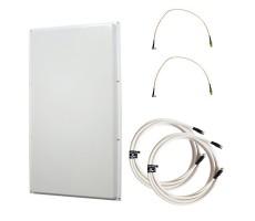 Антенна 3G/4G KAA18-1700/2700 (Панельная, 2 x 15-18 дБ, кабель 2х5м., пигтейлы 2хTS9) фото 1