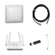 Комплект 3G/4G Дача-Эконом (Роутер WiFi ZBT, модем, кабель 3м, антенна 3G/4G 14 дБ)