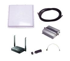 Активный усилитель 3G-интернета (Антенна 3G, кабель, усилитель 3G, модем, роутер WiFi) фото 1