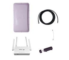 Комплект 3G Дача-Стандарт (Роутер WiFi, модем, кабель 5 м, антенна 3G 17 дБ) фото 1