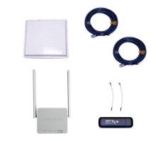 Комплект 3G/4G Дача-Максимум 2x2 (Роутер WiFi, модем, кабель 2х5м, антенна 3G/4G 2x17 дБ) фото 1