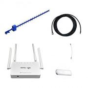 Усилитель интернета 3G Дача-Эконом (Антенна 3G, кабель, модем, роутер WiFi)