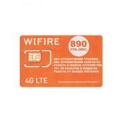 Симкарта WiFiRe Россия Интернет Безлимит 890 руб./мес.