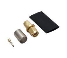 Разъём S-A111/5D (SMA-RP-male, обжимной, на кабель 5D, реверсный) фото 1