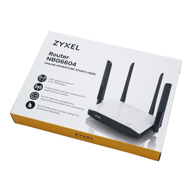 Роутер WiFi ZyXEL NBG6604 (2 4 + 5 ГГц, 100 мВт)