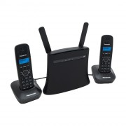 Стационарный GSM-телефон с двумя DECT-трубками на базе роутера