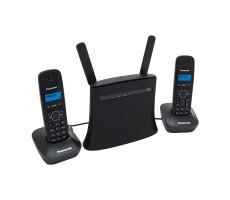 Стационарный GSM-телефон с двумя DECT-трубками на базе роутера фото 1