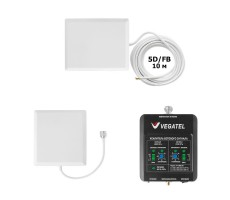 Комплект Vegatel VT-900E/3G-kit для усиления GSM 900 и 3G (до 150 м2) фото 1