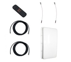 Модем Huawei E3372 с внешней 3G/4G-антенной MIMO 2 х 15 дБ и ВЧ-кабелями по 5м фото 1