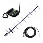 Усилитель мобильной связи на базе телефона Termit FixPhone с антенной