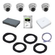 Комплект IP-видеонаблюдения на 4 камеры Trassir