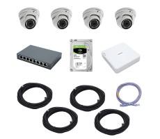 Комплект IP-видеонаблюдения на 4 камеры Trassir фото 1