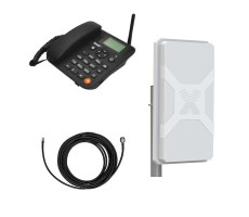 Стационарный сотовый телефон Termit FixPhone v2 с панельной антенной Nitsa-6 фото 1