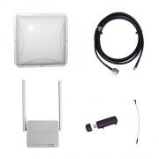 Комплект 3G/4G Дача-Эконом (Роутер WiFi, модем, кабель 3м, антенна 3G/4G 14 дБ)