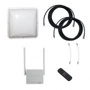 Усилитель интернет сигнала Дача-Стандарт 2x2 (Роутер WiFi, модем, кабель 2х5м, антенна 3G/4G 2x15 дБ)