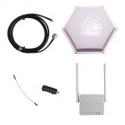 Усилитель 3G/4G Дача-Универсал на базе антенны 3G/4G 15 дБ, модема и роутера