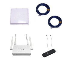 Комплект 3G/4G Дача-Максимум 2x2 (Роутер WiFi, модем, кабель 2х5м, антенна 3G/4G 2x20 дБ) фото 1