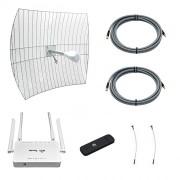 Комплект 3G/4G-интернета Дача Про 2х27 (Роутер WiFi, модем, кабель 2х5м, антенна 3G/4G 2x27 дБ)