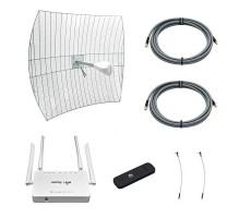 Комплект 3G/4G-интернета Дача Про 2х27 (Роутер WiFi, модем, кабель 2х5м, антенна 3G/4G 2x27 дБ) фото 1