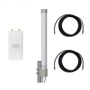 Точка доступа WiFi Ubiquiti Rocket M2 с круговой MIMO-антенной