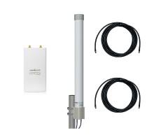 Точка доступа WiFi Ubiquiti Rocket M2 с круговой MIMO-антенной фото 1