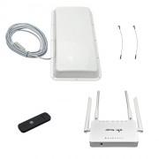 Усилитель 3G/4G Дача-Универсал 2x2 USB на базе антенны со встроенным модемом