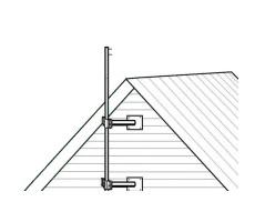 Опора настенная мачты (вынос) регулируемая фото 2