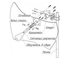 Параболическая MIMO-антенна KNA27-1700/2700 фото 2
