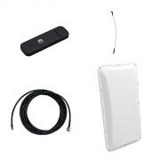 Модем 3G/4G Huawei E3372 с внешней антенной 3G/4G 17 dB и ВЧ-кабелем 5 м
