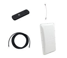 Модем 3G/4G Huawei E3372 с внешней антенной 3G/4G 17 dB и ВЧ-кабелем 5 м фото 1