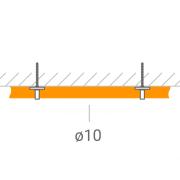 Прокладка ВЧ-кабеля 10 мм.