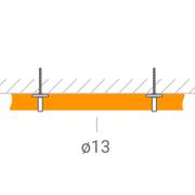 Прокладка ВЧ-кабеля 13 мм.