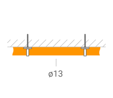 Прокладка ВЧ-кабеля 13 мм. фото 1
