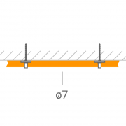 Прокладка ВЧ-кабеля 7 мм.